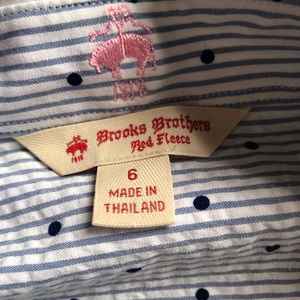 Brooks Brothers Dresses - Brooks Brothers polka-dot seersucker button dress